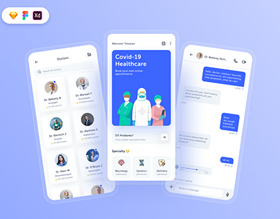 Free Doctors Appointment UI Kit