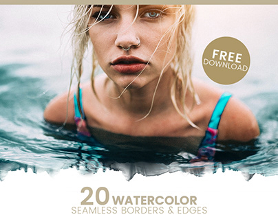 Free Watercolor borders and edges