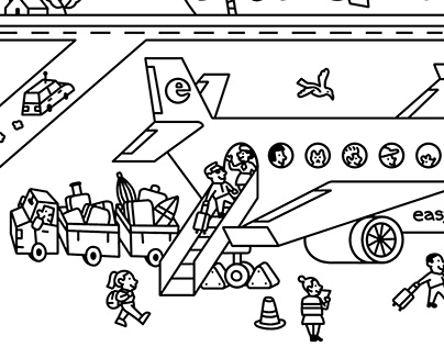 Easyjet colouring page