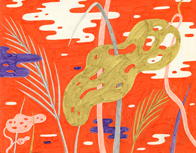 Sketchbook and pattern