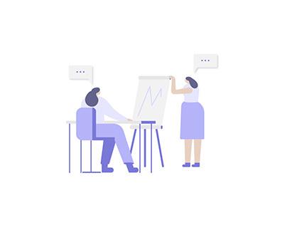 Ilustraciones vectoriales negocios finanzas