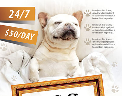 Dog hotel FREE PSD Flyer Template