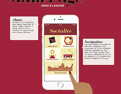 User Interface Design (UI): Socialite