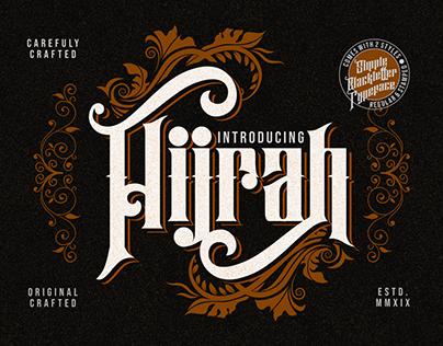 Hijrah - Blackletter Typeface (FREE FONT)