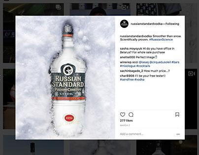Russian Standard Vodka Social Posts [Copywriting]