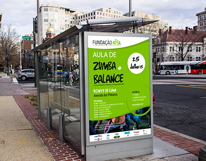 """Poster """"Aula de Zumba e Balance"""" (Fundação AMA)"""