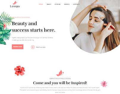 Spa, Massage & Beauty Salon Web design WordPress