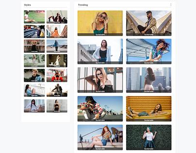 Design for Fashion blog Website