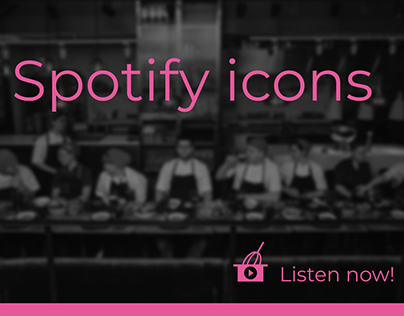 Spotify icons (for cooks)
