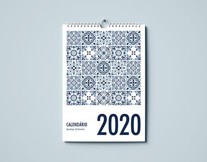 Calendário Azulejo Colonial