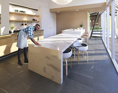 3D | Kitchen island