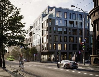 """""""Donelaitis apartments"""" exterior visualizations CGI"""