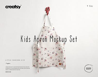 Kids Apron Mockup Set (19/LFv.2)
