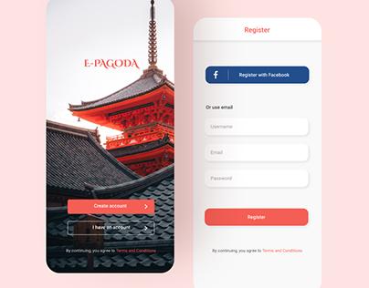 UI Daily 3: Login screen E-Pagoda