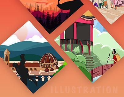 Travel - Illustration - Web Design