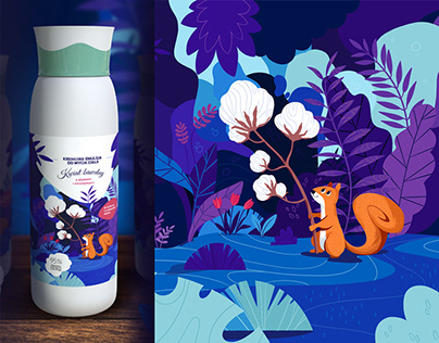 Packaging illustrations: cosmetics for kids