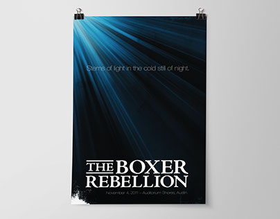 PRINT: The Boxer Rebellion Concert Poster