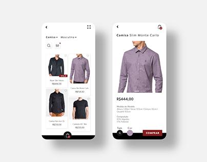 Calvin Klein - UI Interface