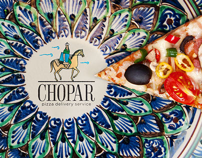 Chopar Pizza delivery service identity