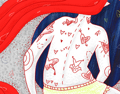 editorial illustrations for Make Out magazine