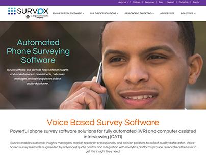Survox VoiceBased Survey Software webdesign inspiration