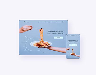 Italiani   Restaurant website redesign
