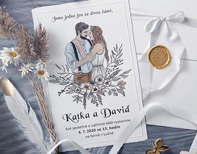 Katka & David - wedding invitation