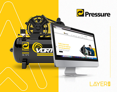 Campanha de lançamento e Webdesign Pressure