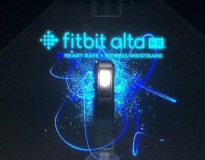 Fitbit on Holographic piramid