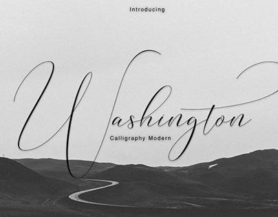 Washington Calligraphy Modern Font
