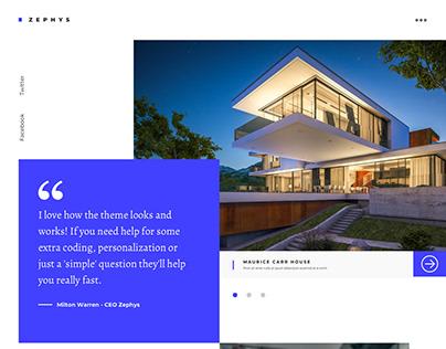 ZEPHYS - Architecture, Creative, Sketch Template
