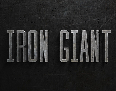 Motion Typography - Iron Giant Title Sequence