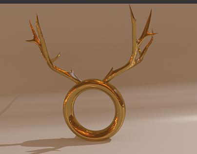 Deer Ring 3D