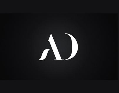 AD letter Logo Design Vector 2019