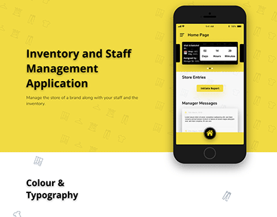 iOS Applicaton to manage Inventory, Stores and Staff