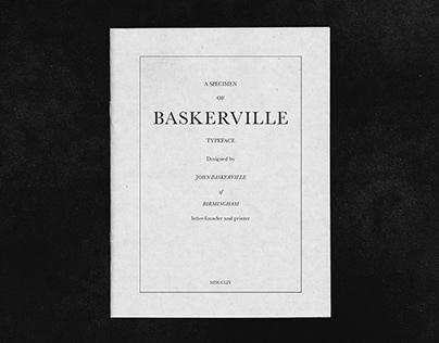 Baskerville typeface - Specimen