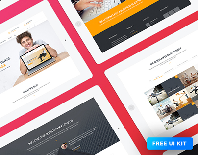 Consulex Free UI Kit & Web Theme