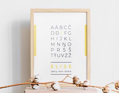 Sámi alphabet poster