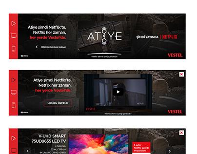 Vestel Netflix Masthead Banner