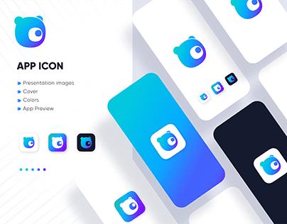 Panda App Icon | Modern app logo