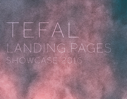 Tefal - product landing pages - showcase 2016