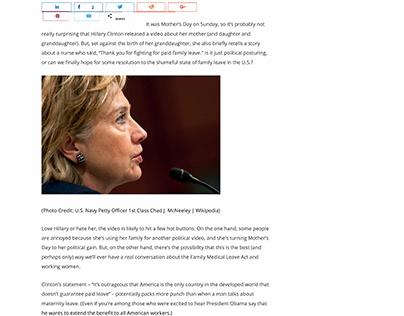 Hillary Clinton Fights Like a Woman