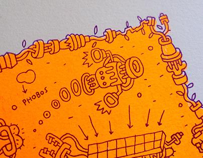 Martians, Silkscreen Print