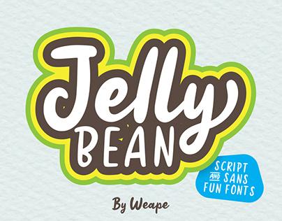 FREE FONT // Jellly Bean Script & Sans Fun Font