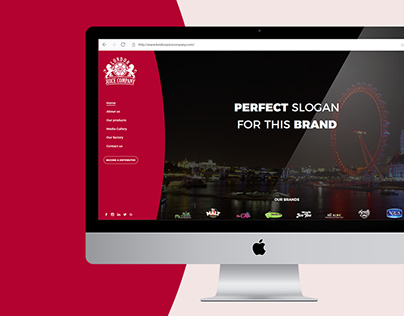 Web Design for London Juice Company