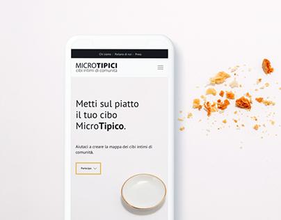 Microtipici - Landing Page