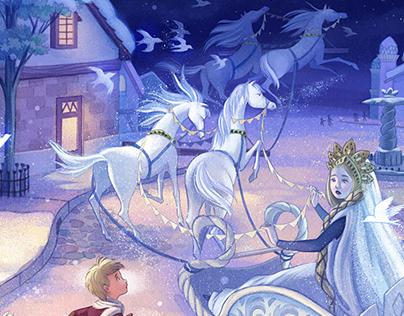 The Snow Queen (mixed media)