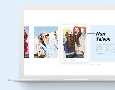 Hair Saloon | Web design