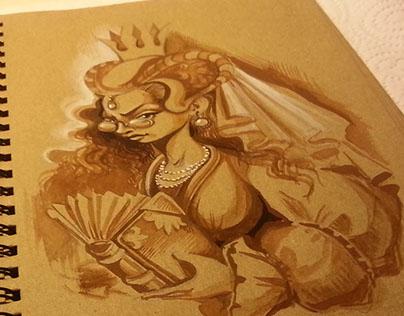 Princess with Book