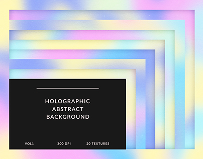Holographic Abstract Background Vol.1